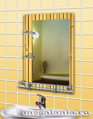 Зеркала для ванной с аэрографией классические
